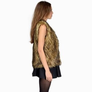 Tobi Mocha As Ever Be Faux Fur Vest